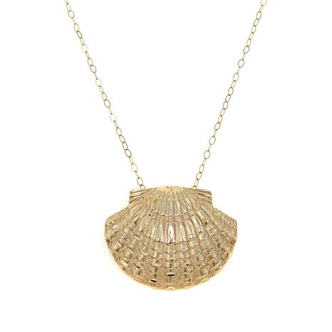 "Passport to Gold 14K Seashell Pendant with 18"" Chain"
