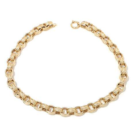 "Passport to Gold 14K Textured Rolo-Link 18"" Necklace"
