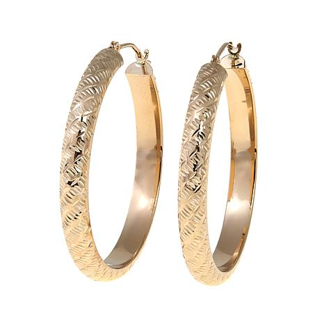 "Passport to Gold 14K ""Tornado-Cut"" Hoop Earrings"
