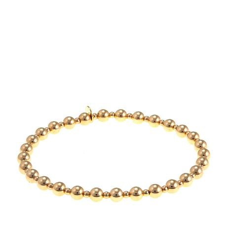 Passport to Gold 14K Yellow Gold Bead Stretch Bracelet