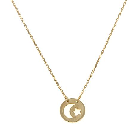 "Passport to Gold 14K Yellow Gold Celestial 16"" Necklace"