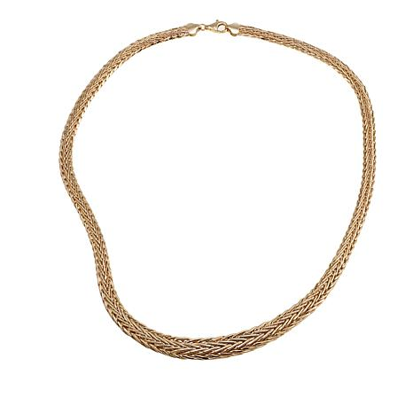 "Passport to Gold 14K Yellow Gold Graduated Wheat-Chain 18"" Necklace"