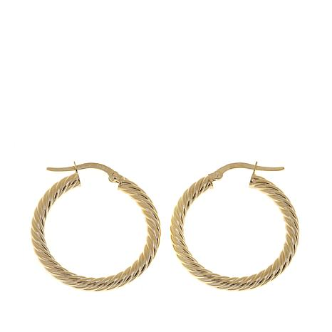 Passport to Gold 14K Yellow Gold Twisted  Hoop Earrings