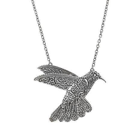 """Patricia Nash 30"""" Hummingbird Drop Necklace"""