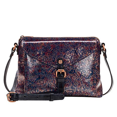 d74456bd6e887 Patricia Nash Avellino Printed Leather Crossbody Bag - 8866154 | HSN