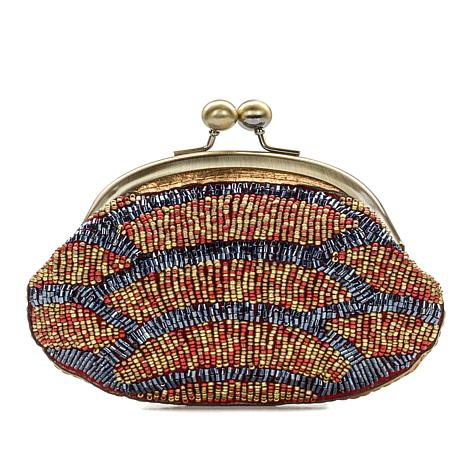Fashion Womens Coin Purse Stained Glass Spectrums Vintage Pouch Kiss-lock Mini Purse Wallets