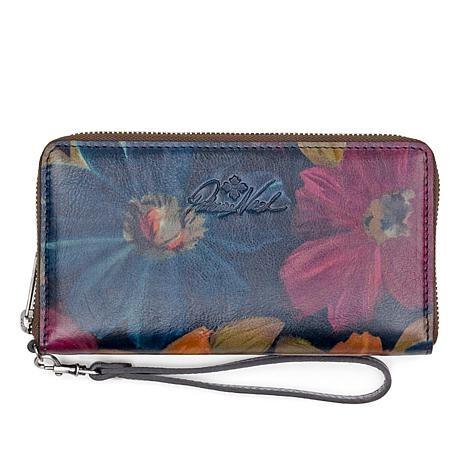 Patricia Nash Elsa Peruvian Painting Leather Organizer Clutch