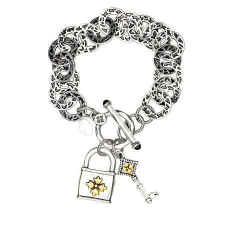 Patricia Nash Lock-and-Key Toggle Bracelet
