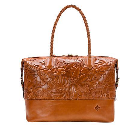 Patricia Nash Saluzzo Leather Overnighter Bag
