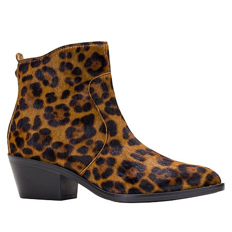 Patricia Nash Suzana Leopard-Print Haircalf Leather Bootie