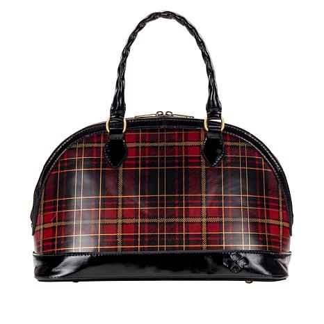 Patricia Nash Tarma Foiled Tartan Leather Satchel