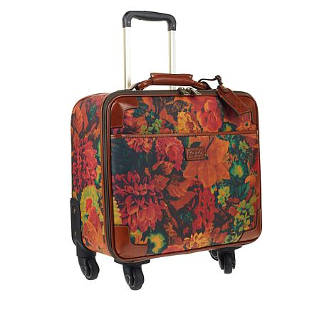 Patricia Nash Velino Coated Canvas Wheeled Trolley Bag