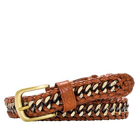 Patricia Nash Venette Braided Leather Chain Belt