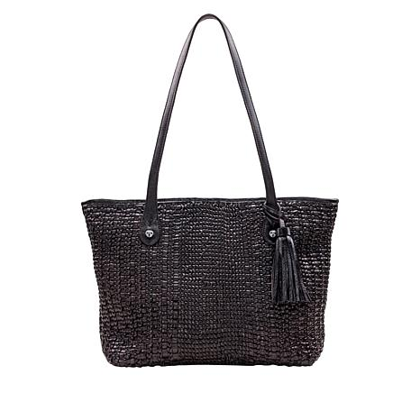 Patricia Nash Viotti Woven Leather Tote