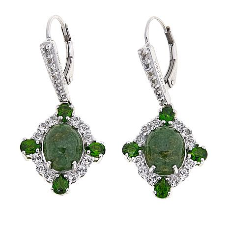 Paul Deasy Gem Wyoming Jade and Chrome Diopside Drop Earrings