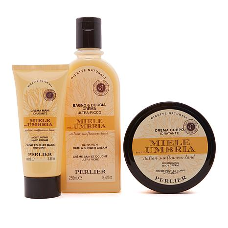 Perlier Honey from Umbria 3-piece Bath and Body Set