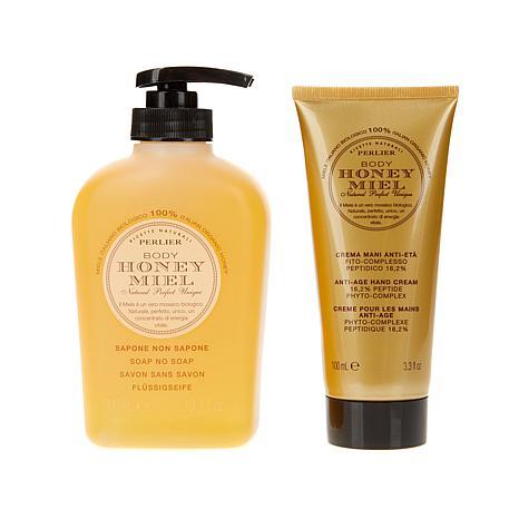 Perlier Honey Hand Cream and Liquid Soap