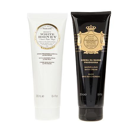 Perlier Imperial Honey & White Honey Shower Gel Duo