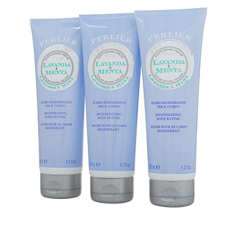 Perlier Lavender and Mint Body Butter 3-pack