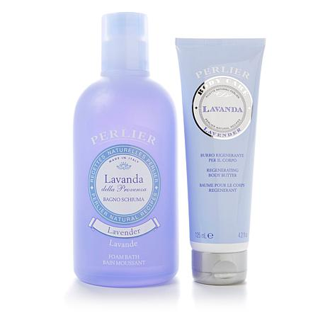 Perlier Lavender Body and Bath 2-piece Kit