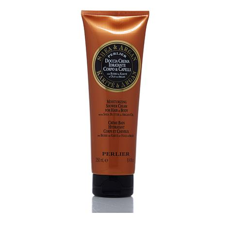 Perlier Shea & Argan Shower Cream for Hair & Body