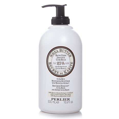 Perlier Shea Butter Bath Cream with White Lily