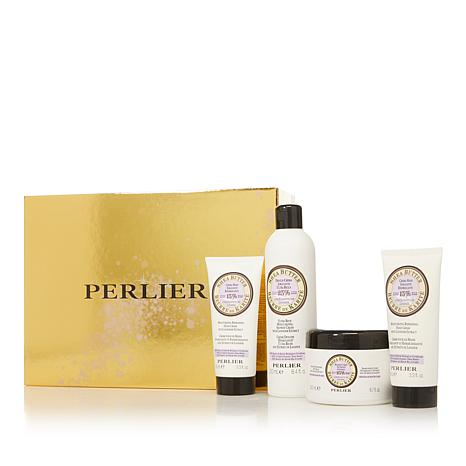 Perlier Shea Butter Lavender 4-piece Bath and Body Set with Box