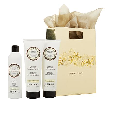 Perlier Shea Lily Bath & Body 3-piece Set