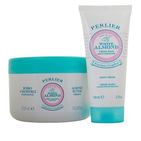 Perlier White Almond Hand Cream and Body Butter 2-piece Set