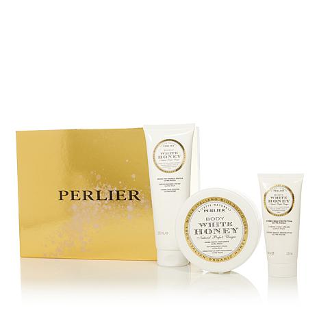 Perlier White Honey 3-piece Bath and Body Set with Box