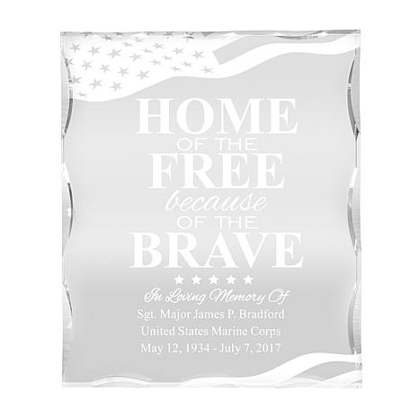 Personal Creations Personalized American Hero Memorial Keepsake Block