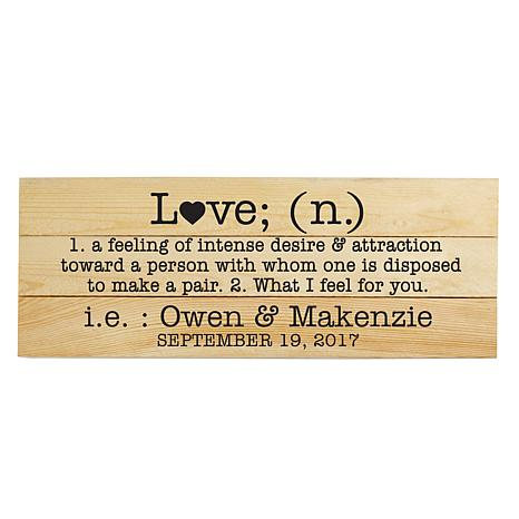 Personal Creations Personalized Love Definition Mini Wood Pallet