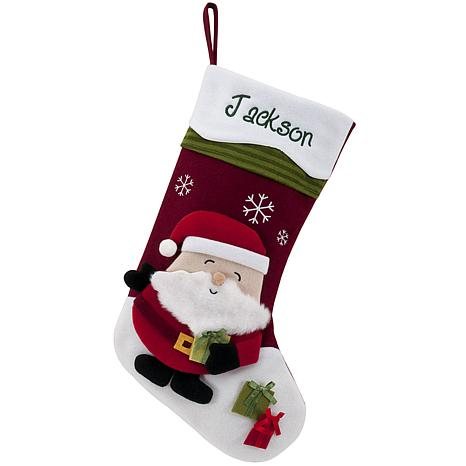 "Personalized 20"" Snowcap Character Stocking - Santa"