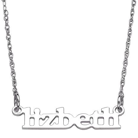 """Personalized Lowercase Printed Name 21-1/4"""" Necklace"""
