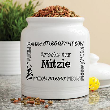 Personalized Meow! Treat Jar