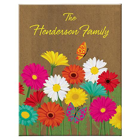"""Personalized Spring Flower Canvas - 11"""" x 14"""""""