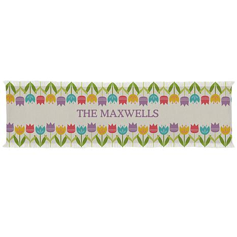 """Personalized Spring Tulip Table Runner - 16"""" x 70"""""""