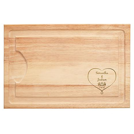 "Personalized ""Together Forever"" Wooden Cutting Board"