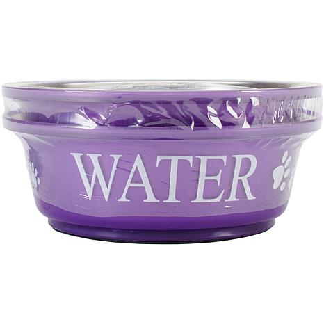 Pet Food and Water Set Small 1pt - Lilac