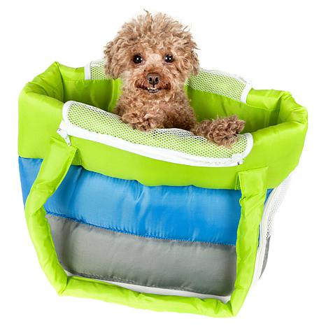 Pet Life Bubble-Poly Tri-Colored Insulated Pet Carrier