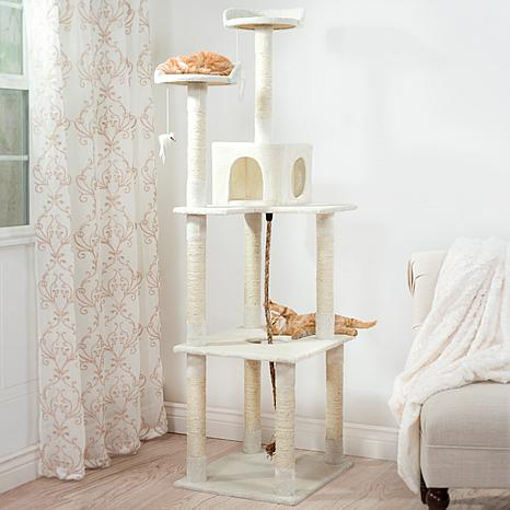 PETMAKER 6 ft. Sleep and Play Cat Tree