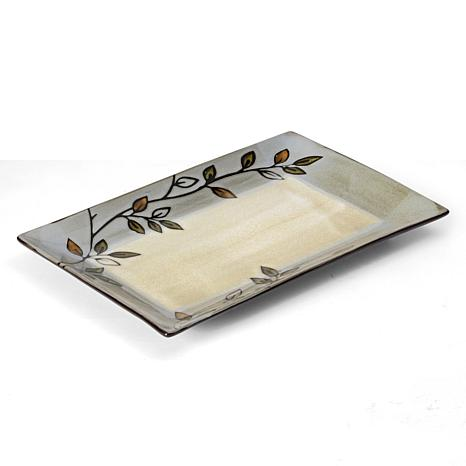 Pfaltzgraff Rustic Leaves Rectangular Platter