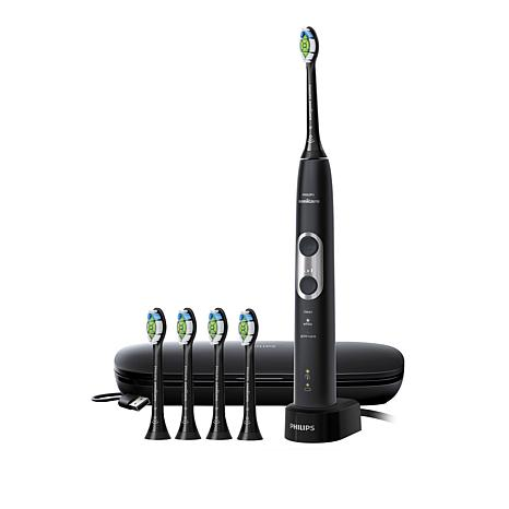 Philips Sonicare ProtectiveClean 6500 Toothbrush, Case & 5 Brush Heads