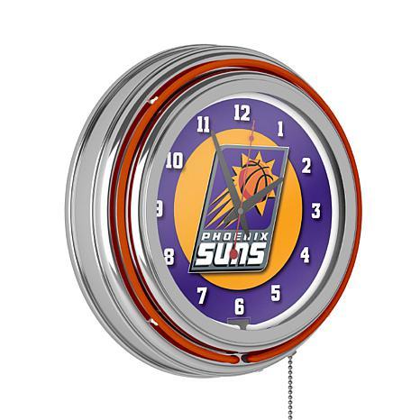 Phoenix Suns Double Ring Neon Clock