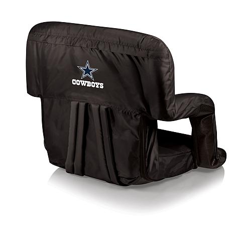 picnic time ventura folding stadium chair - dallas cowboys
