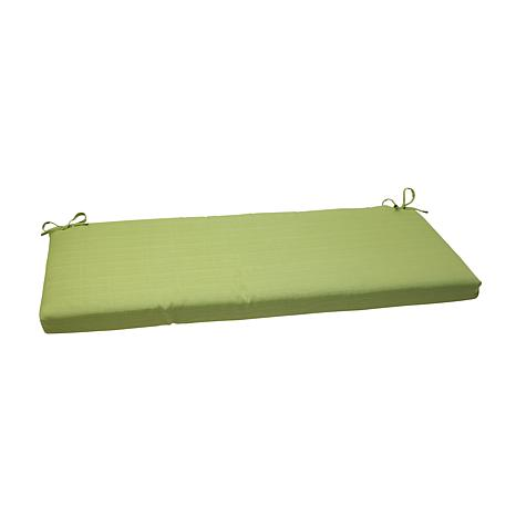 Pillow perfect outdoor forsyth bench cushion green 7529449 hsn - Indoor bench cushions clearance ...