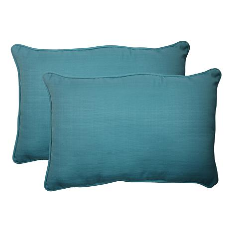 Pillow Perfect Outdoor Rectangular Throw Pillows Pair