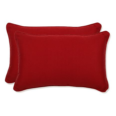 Pillow Perfect Set of 2 Pompeii Throw Pillows - Red