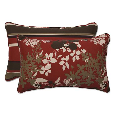 Pillow Perfect Set of 2 Rectangular Throw Pillows - Red