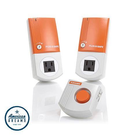 Plug & Safe PS8 Home Sensor 2-pack with RX6 Siren